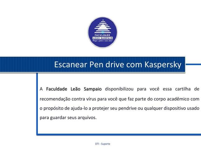Escanear Pen drive com Kaspersky