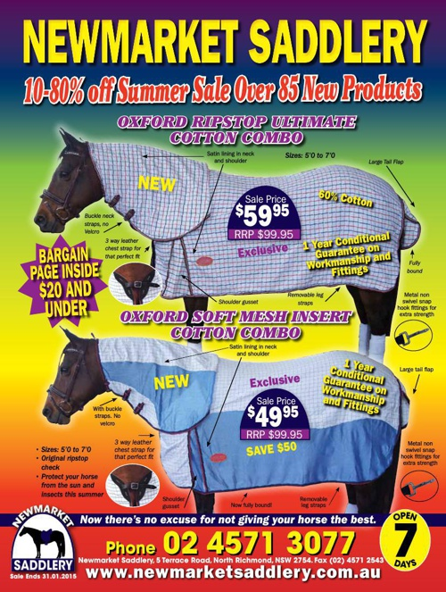 10-80% Off Newmarket Saddlery Summer Sale
