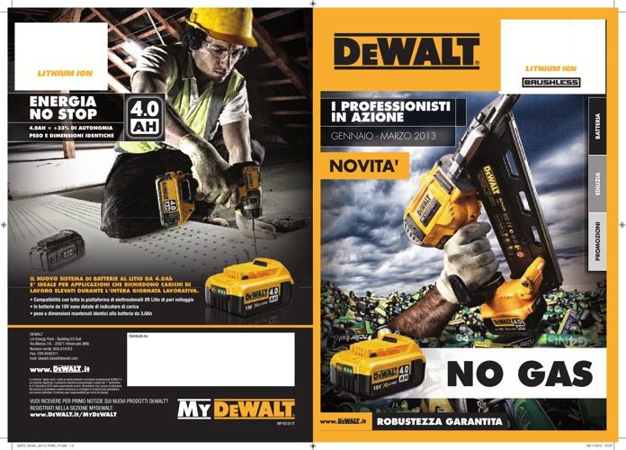 Promozioni DeWalt gennaio-marzo 2013