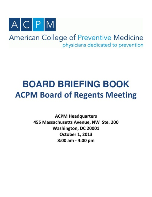 ACPM Board Book