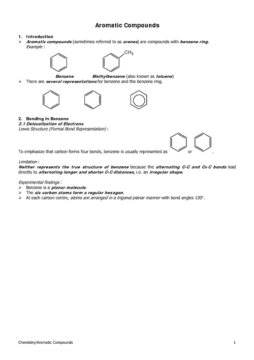 HKAL Section 12.3 (Aromatic Compounds)