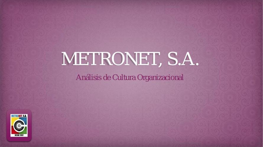 Presentación METRONET