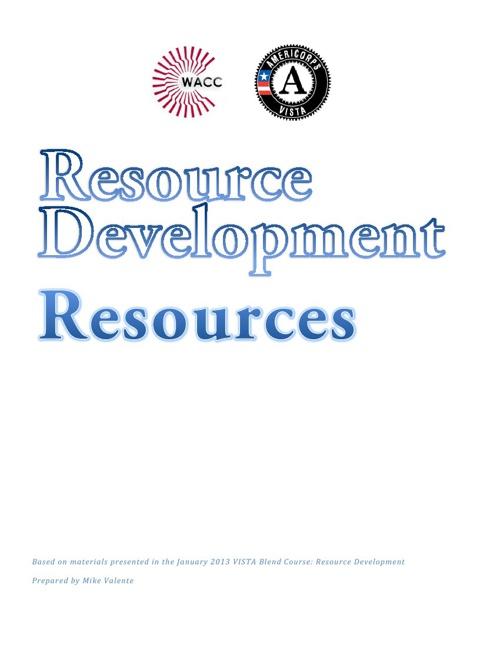 Resource Development Resources