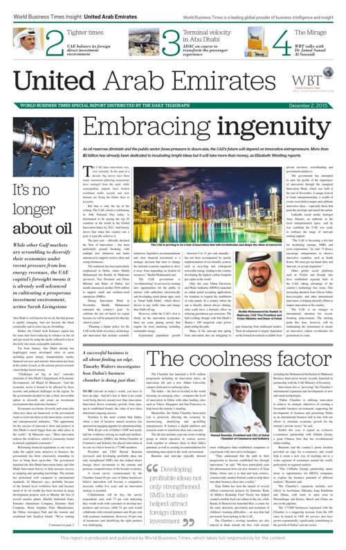 World Business Times Insight: United Arab Emirates 2015