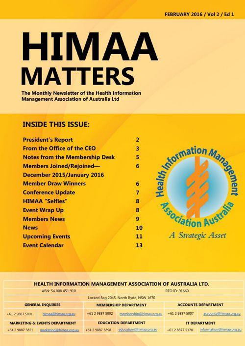 HIMAA Matters - February 2016
