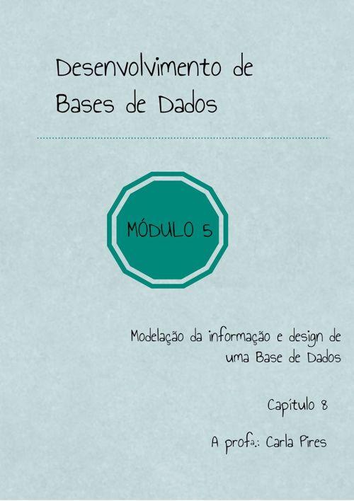 MODELAÇÃO DA INFORMAÇÃO E DESIGN DE UMA BASE DE DADOS