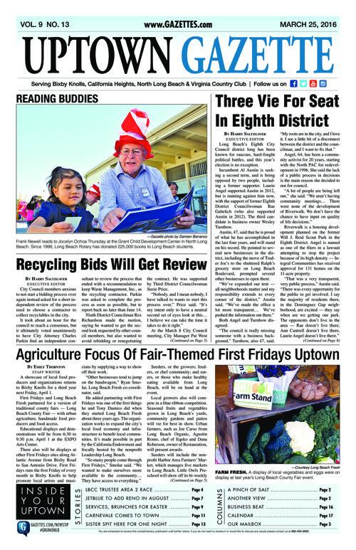 Uptown Gazette  |  March 25, 2016