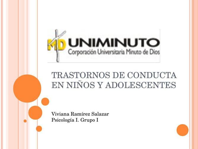 TRANSTORNOS DE CONDUCTA EN NIÑOS Y ADOLESCENTSSS