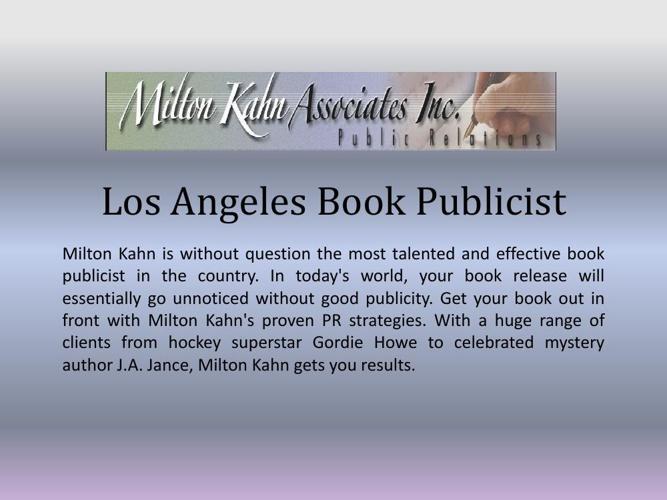 Los Angeles Book Publicist