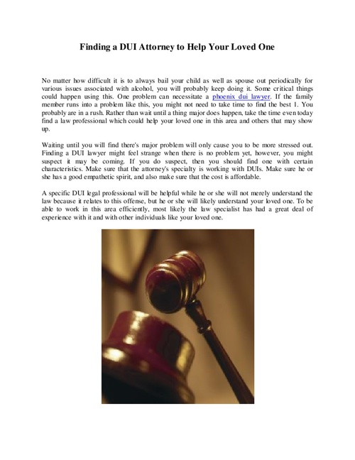 Phoenix Dui Attorney