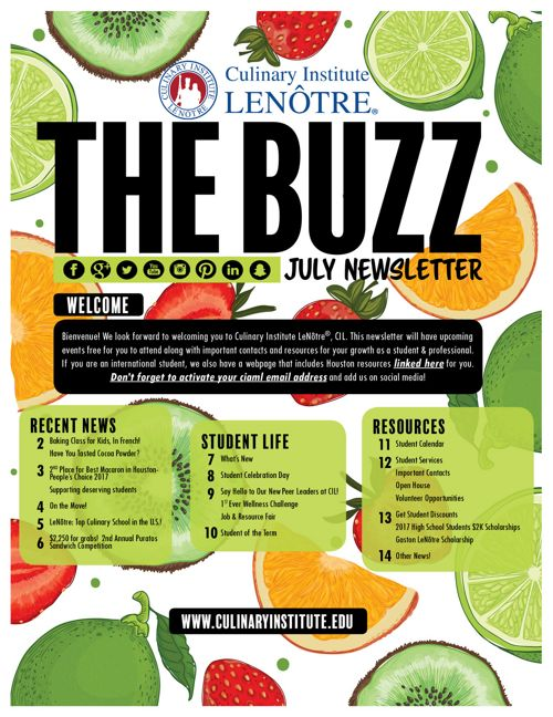 July 2017 Newsletter | LeNôtre™