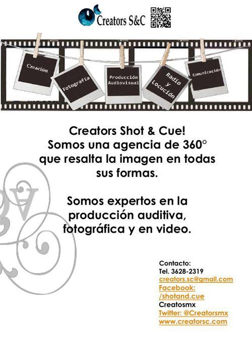 Fotografía-Video-Producción Audiovisual Creators