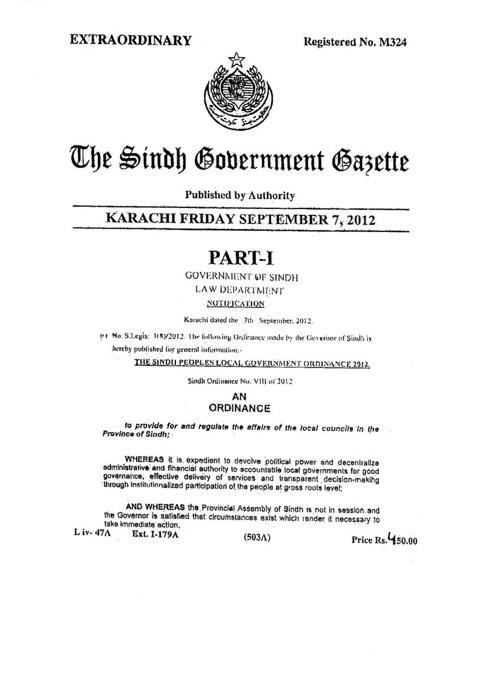 sindh government gazette 2012 final