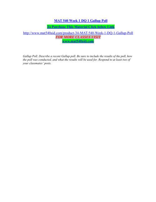 MAT 540 AID Entire course /mat540aid.com