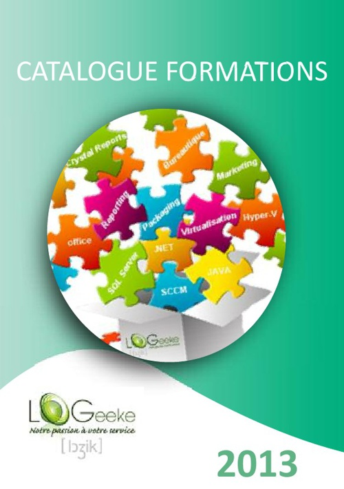 Catalogue Formations LoGeeke 2013