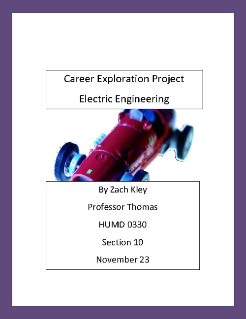 Career Exploration Project (Zach Kley)