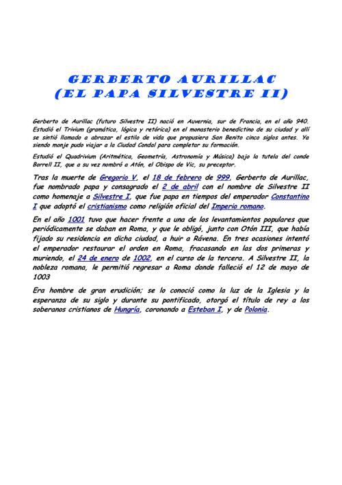 Gerberto Aurillac