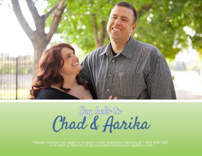 Chad and Aarika's Adoptive Family Profile