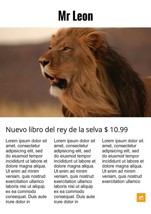 Libro del león