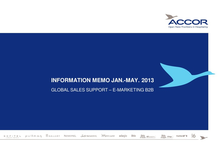 ACCOR - Web 2B2 - e-Marketing B2B (January-Apil 2013)