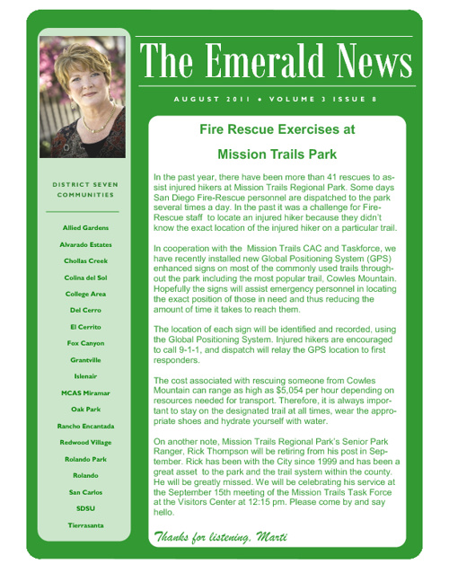 The Emerald News: Volume 3, Issue 8 (August 2011)