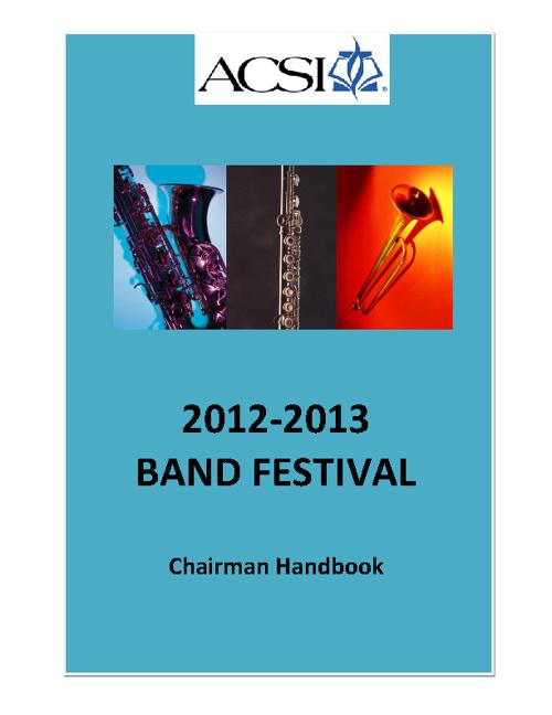 Band Chairman Handbook