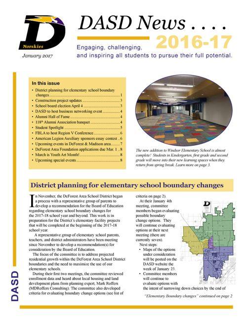 DASD News: January 2017