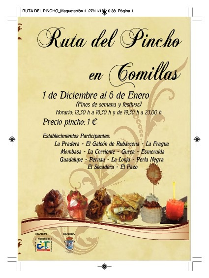 Ruta del Pincho Comillas 2013