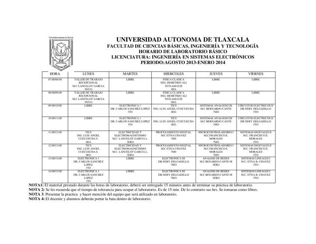 Copy of CALENDARIO DE USO DE LABORATORIOS DE ISE OTOÑO 2013