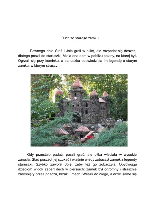 Duch ze starego zamku