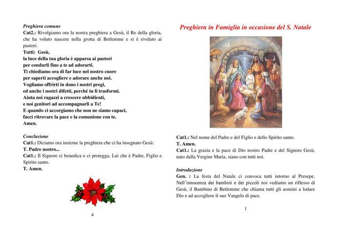 Preghiera in Famiglia in occasione del S. Natale 2^ elementare