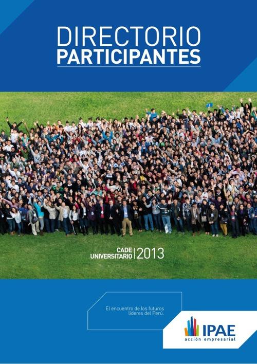 Directorio Participantes CADE Universitario 2013
