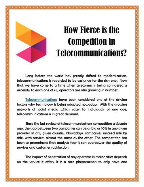 How Fierce is the Competition in Telecommunications?