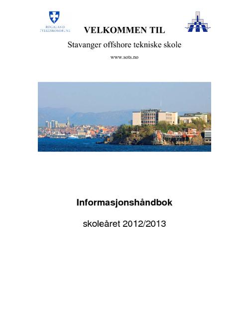 Informasjonshåndboken 2012 - 2013