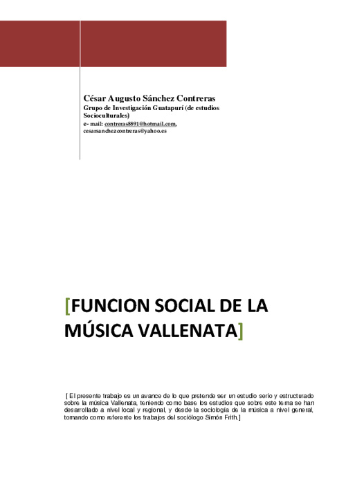 Historia de la musica vallenata