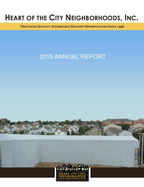 Heart of the City Neighborhoods, Inc.'s 2015 Annual Report