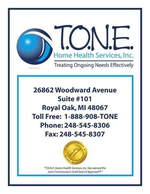 T.O.N.E. HOME HEALTH SERVICES, INC. - A BRIEF OVERVIEW