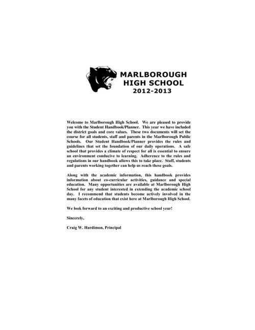 2012-2013 MHS Student Handbook