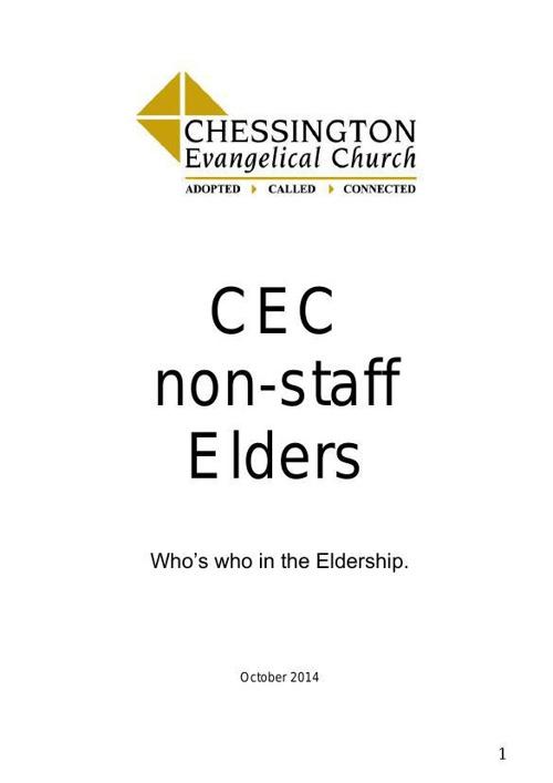 CEC non-staff Elders booklet