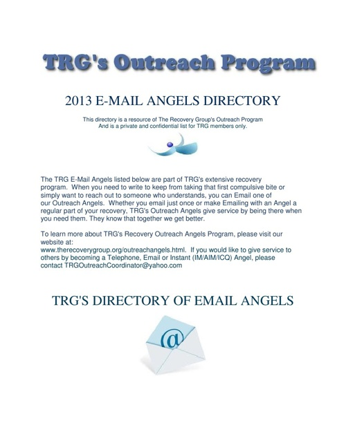 TRG's Outreach Email Angels