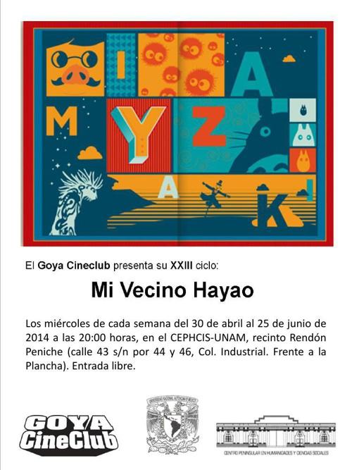 Ciclo XXIII del Goya Cine Club: Mi vecino Hayao.
