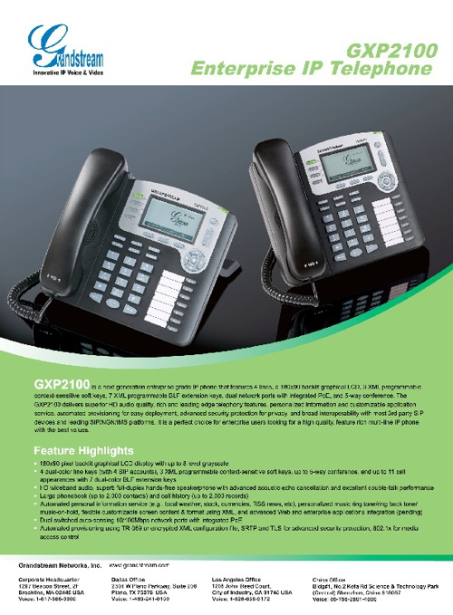 Grandstream and ATSnexgen Telephone/Phone System Solutions