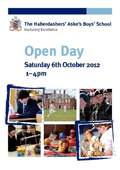 Habs Boys Main School Open Day Booklet