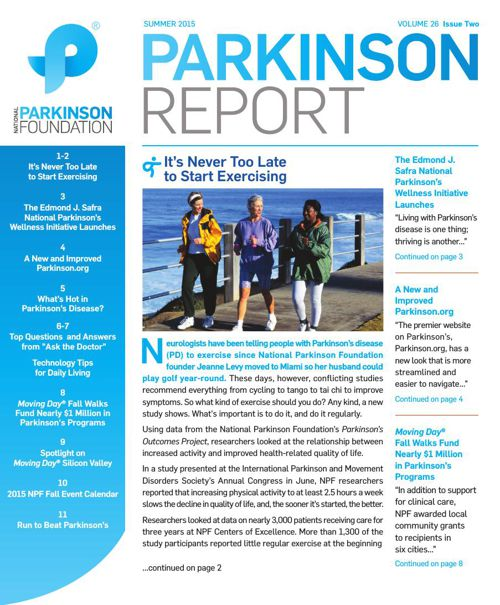 Summer 2015 Parkinson Report