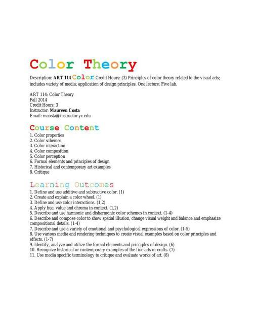 Color Theory_YC_Fall_2014_Syllabus