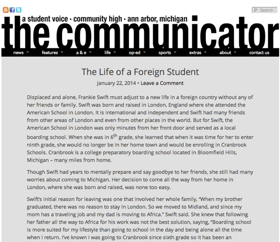 Dan Metzler Communicator Web Portfolio