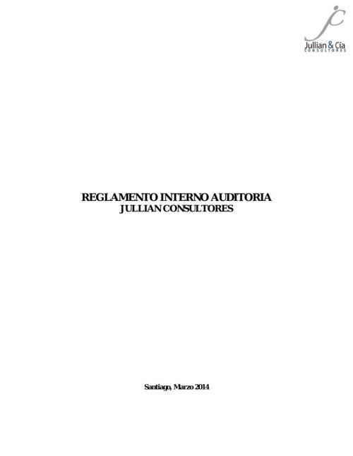 Reglamento Interno Auditoria final