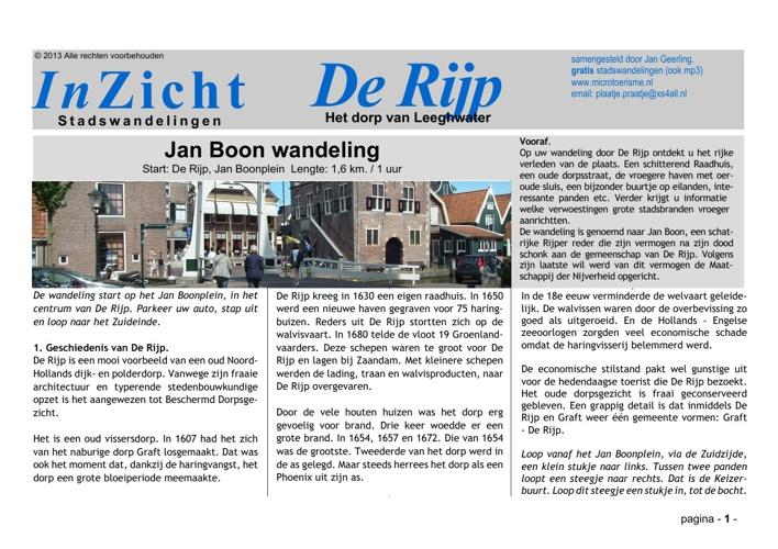 Stadswandeling De Rijp (NL)