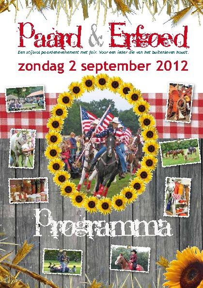 Copy of Programmaboekje Paard en erfgoed 2012