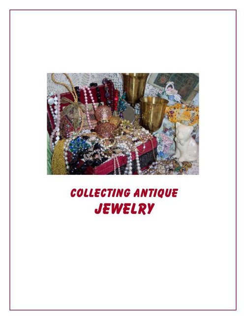 Collecting Antique Jewelry